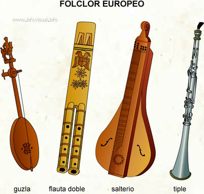 Folclor europeo (Diccionario visual)