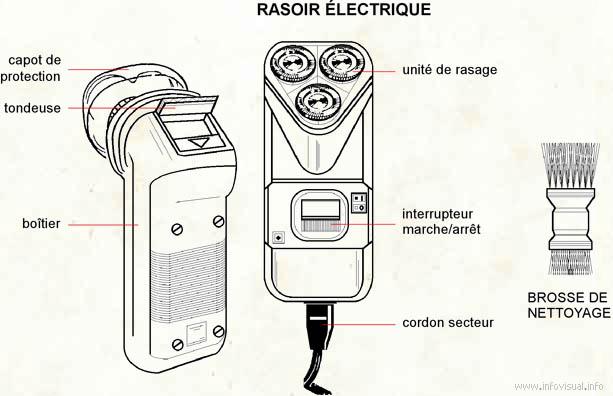 Rasoir électrique (Dictionnaire Visuel)